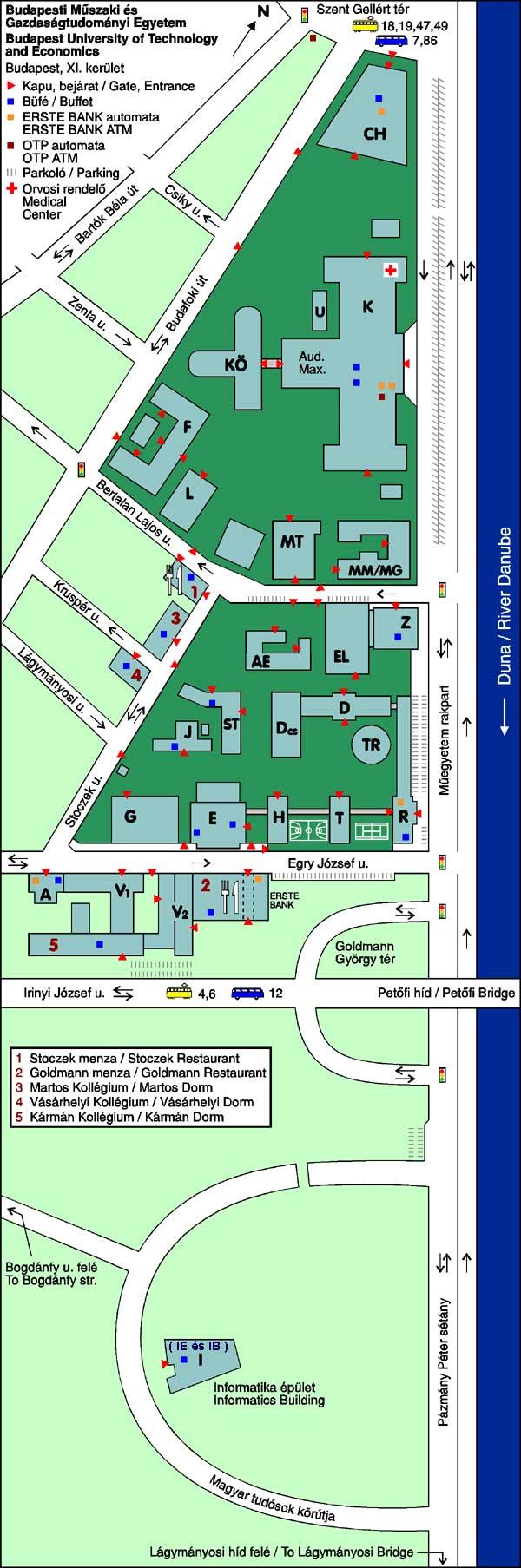 bme budapest térkép Térkép a vizsgahelyszínekről   BME Nyelvvizsgaközpont bme budapest térkép