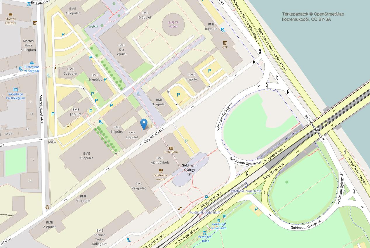 bme térkép Térkép a vizsgahelyszínekről   BME Nyelvvizsgaközpont bme térkép